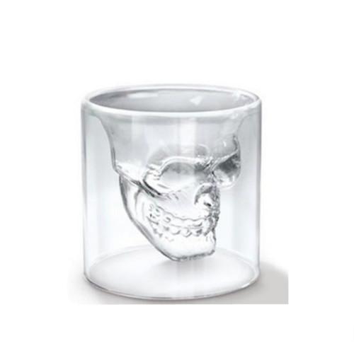 250ml Skull Double Wall Glass Mug Coffee Cup Creative Milk Tea Glass Drinkware