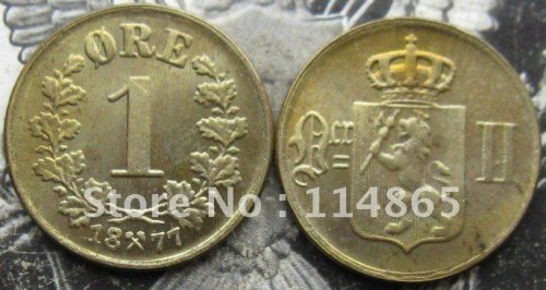 NORWAY 1877 1 Ore COIN COPY FREE SHIPPING