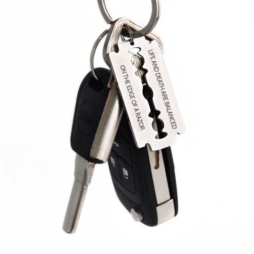 Life And Death Razor Keychain