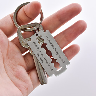 Winning is like Shaving Razor Keychain