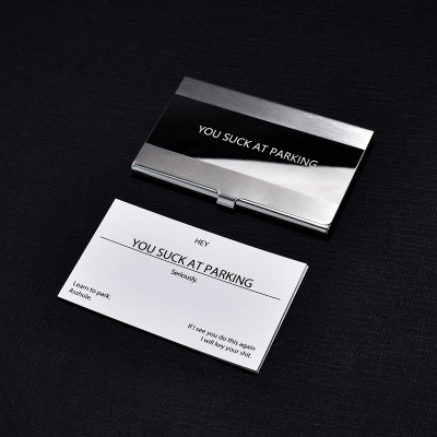 You Suck At Parking Cards Calling Cards Personalized Cards