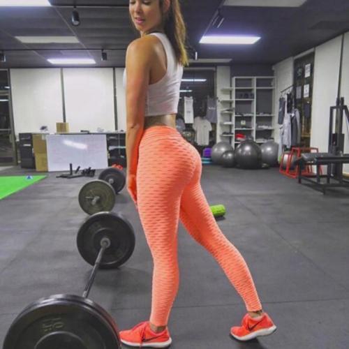 Women Pink High Waist Fitness Breathable Leggings