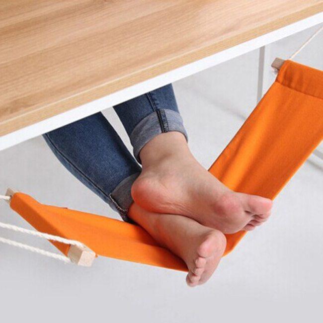 Free Ship Adjustable Desk Foot Hammock Office Feet Leg Rest Hammock