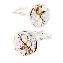 Steampunk Watch Engine Cufflinks Gift for Him