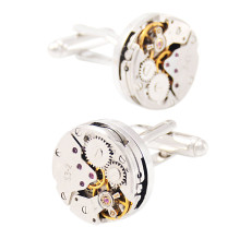 Steampunk Watch Engine Cufflinks Gift for Him