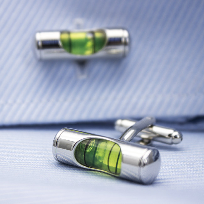 Bubble Level Cufflinks Gifts for Men by VEASOON