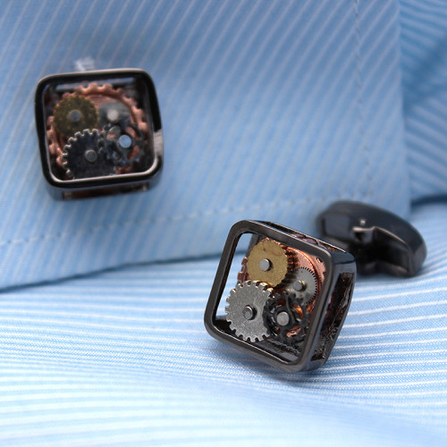 Steampunk Gears Cufflinks Luxury Cufflinks Gifts for Dad