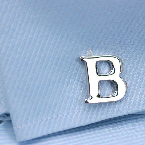 Silver Alphabets Cufflinks Letters Cufflinks Name Cufflinks Gift for Men