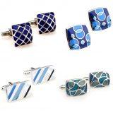 Blue Enamel Cufflinks Cuff Links for Men Best Gift Idea