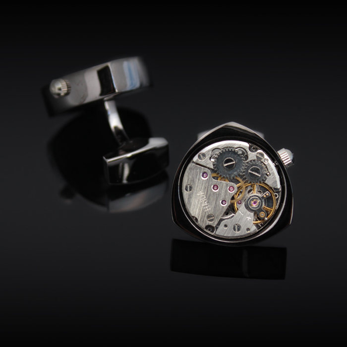 Rotor Motors Watch Engine Cufflinks Gifts for Men Best Gift Idea Father's Day Gift