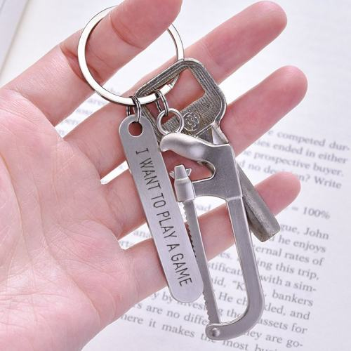 Personalized Hack Saw Keychain I Want To Play A Game