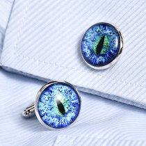Blue Cat Eye Cufflinks
