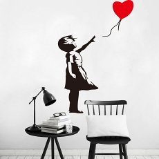 Balloon Girl Wall Decal