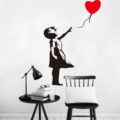 Balloon Girl Wall Decal