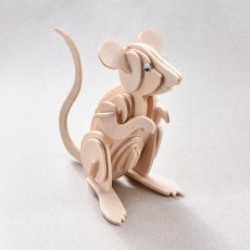 3D Wooden Mouse DIY Kit