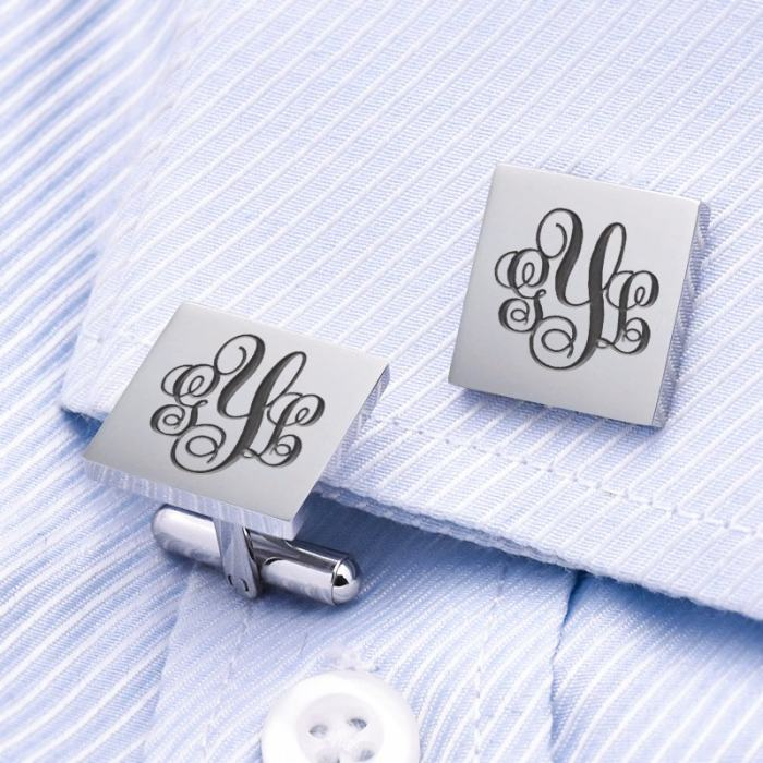 Monogrammed Name Cufflinks