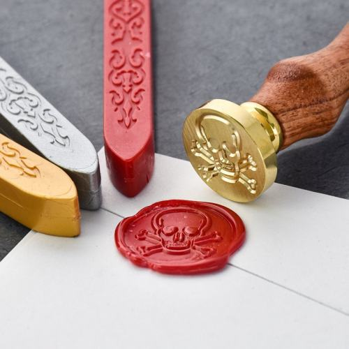 Clearance Skull and Crossbones Wax Seal Stamp