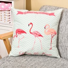 Chevron Flamingo Pillow
