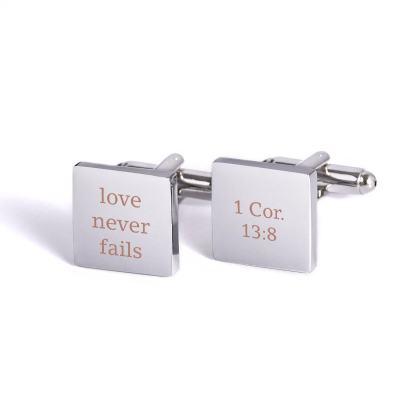 Love Never Fails Cufflinks