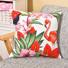 Flamingo and Ramphastos Pillow