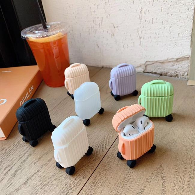 Cute AirPods Suitcase Luggage AirPods 1 2 Case Gift Ideas