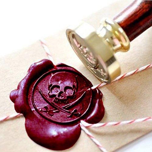 Pirate Skull & Swords Wax Seal Kit Personalised Sealing Stamp