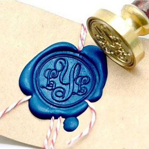 Floral Monogram Wax Seal Stamp Kit Personalized Wax Seal Stamp Gift Set
