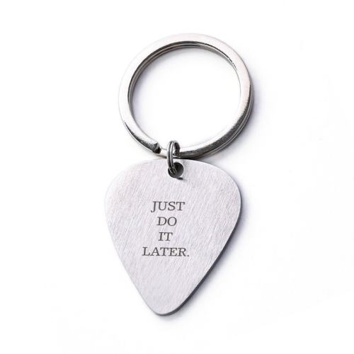 Just Do It Later Keychain