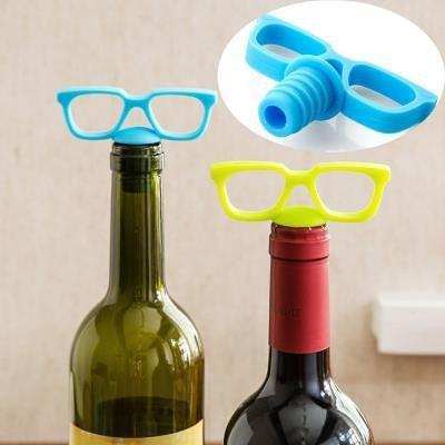 Sunglasses Bottle Stopper Drink Marker Set