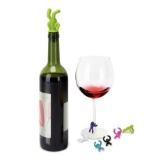 Little People Wine Stopper & Drink Markers Set