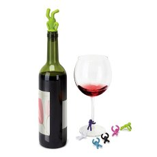 Little People Wine Stopper & Drink Markers Set for Party for Wedding Customizable