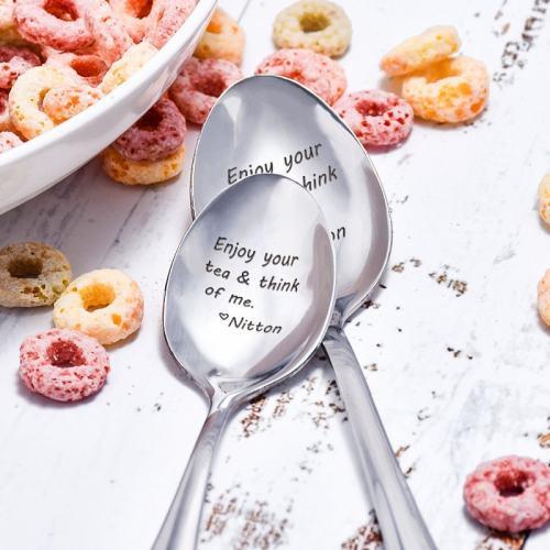 Enjoy Your Tea & Think Of Me Spoon