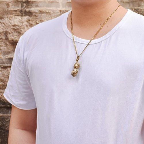 Brass Peanut Necklace