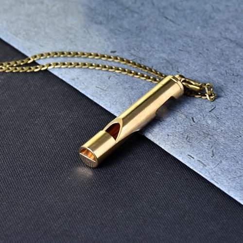 Bress Whistle Opener Necklace