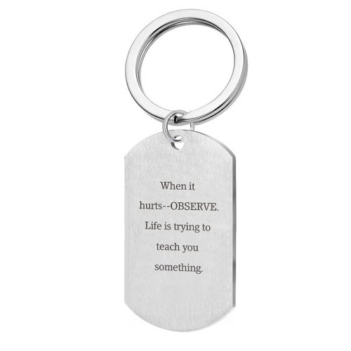 When It Hurts Keychain