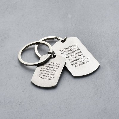 It's Time To Just Be Happy Keychain