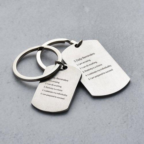 Daily Reminder Keychain