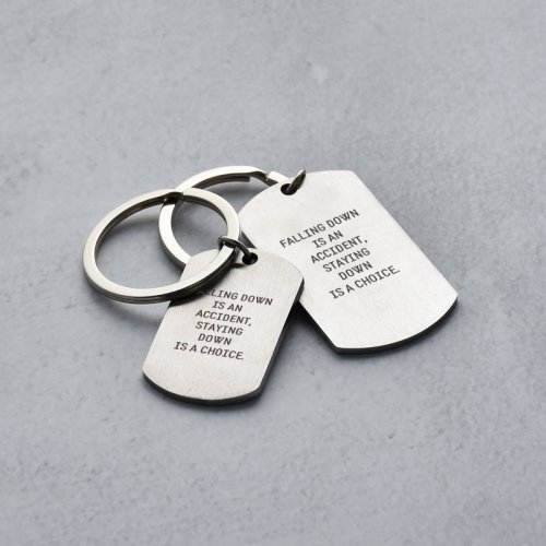 Falling Down Is an Accident Keychain