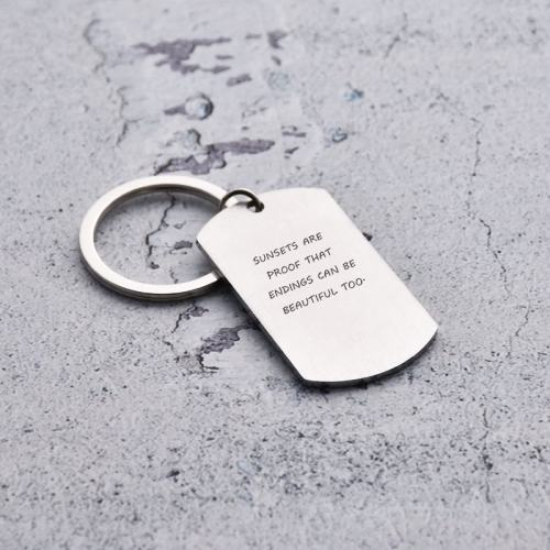 Sunsets Are Proof That Endings Can Be Beautiful Too Keychain