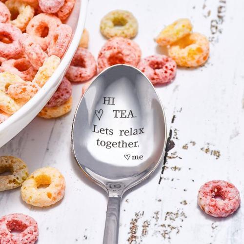 Hi Tea Lets Relax Together Spoon