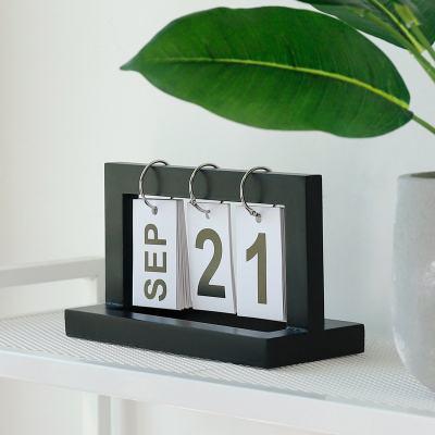 Desktop Wooden Flip Calendar