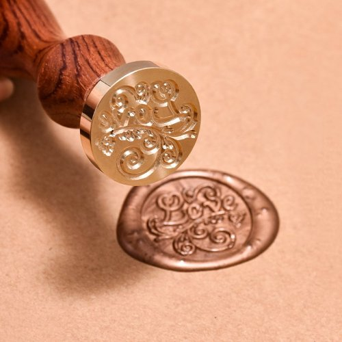 Floral LOVE Wax Seal Stamp Set