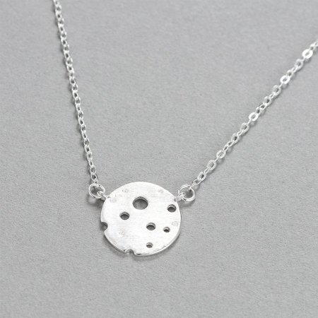 S925 Silver Moon Surface Necklace