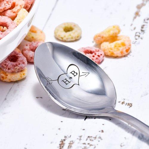 Personalized Arrow Piercing Heart Spoon