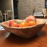 Natural Wood Serving Bowl