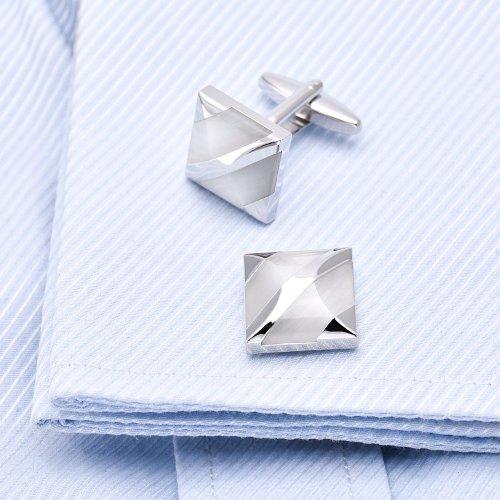 White Agate Cufflinks