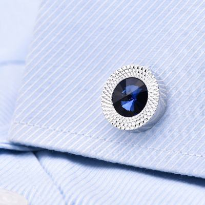 Blue Sapphire Cufflinks 2020 Best Wedding Jewelry Custom Cufflinks Gift for Men Him Father