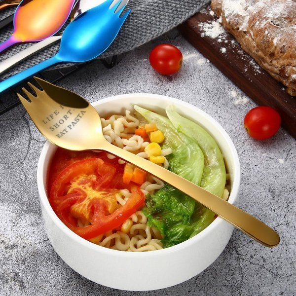 Life is Short Eat Pasta Spoon & Fork