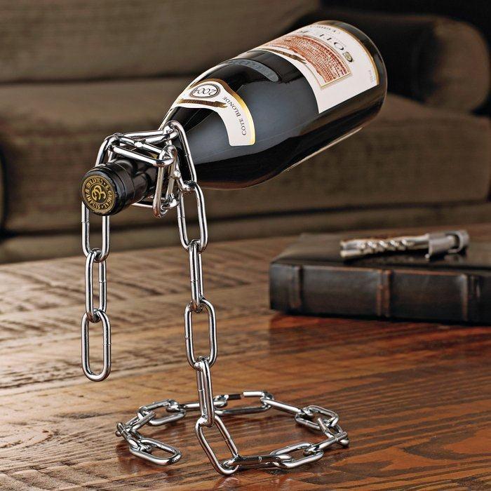 Chain Wine Bottle Holder Worldwide Free Shipping