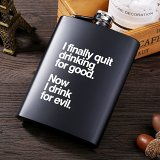 I Finally Quit Drinking For Good Now I Drink For Evil Flask Kit